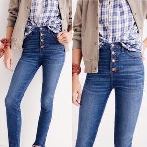 "• Madewell • 10"" High Riser Skinny Skinny Jeans"